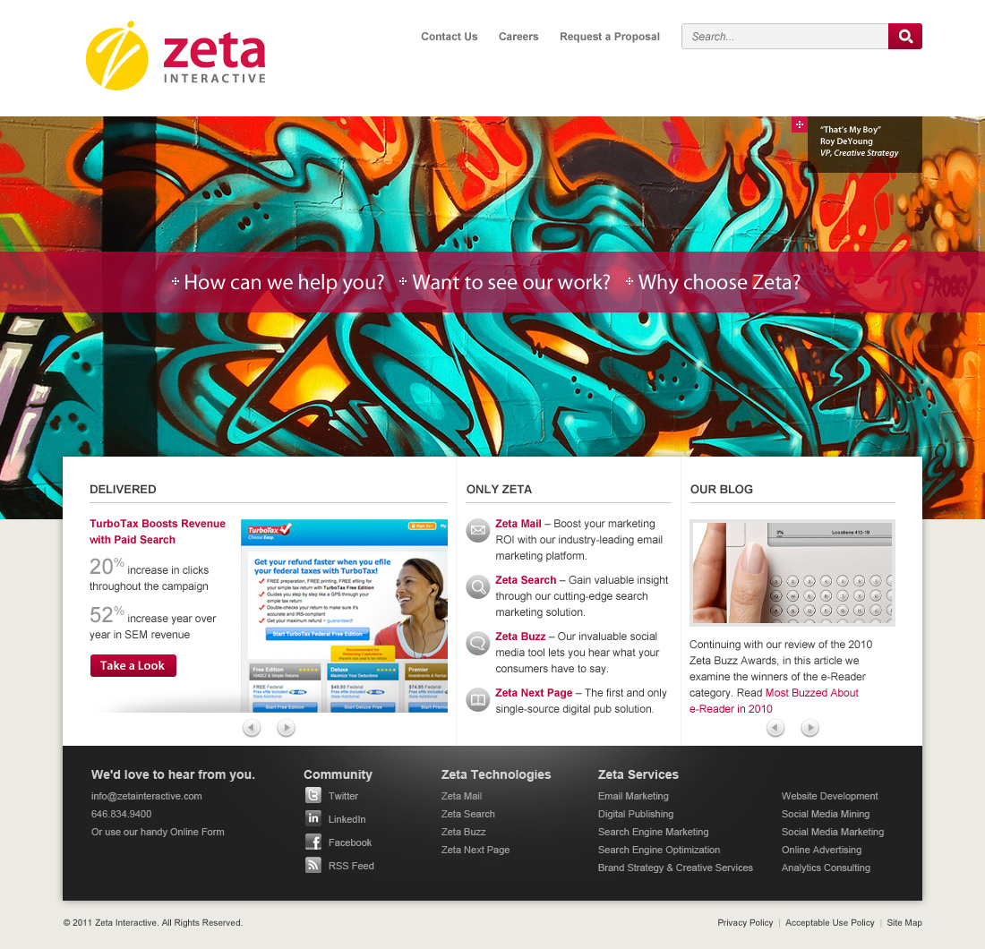 Zeta Interactive Website